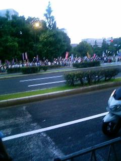 国会議事堂正門前
